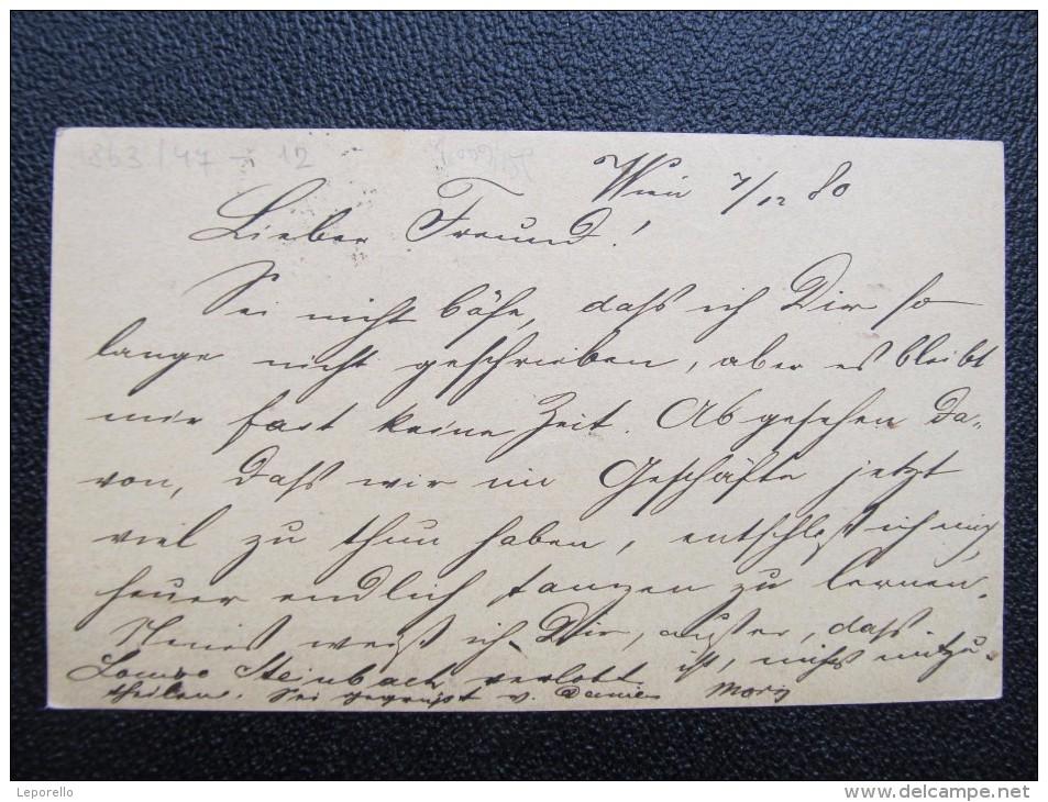 GANZSACHE Weissgärber Wien - Prag 1880 /// D*19788 - Briefe U. Dokumente