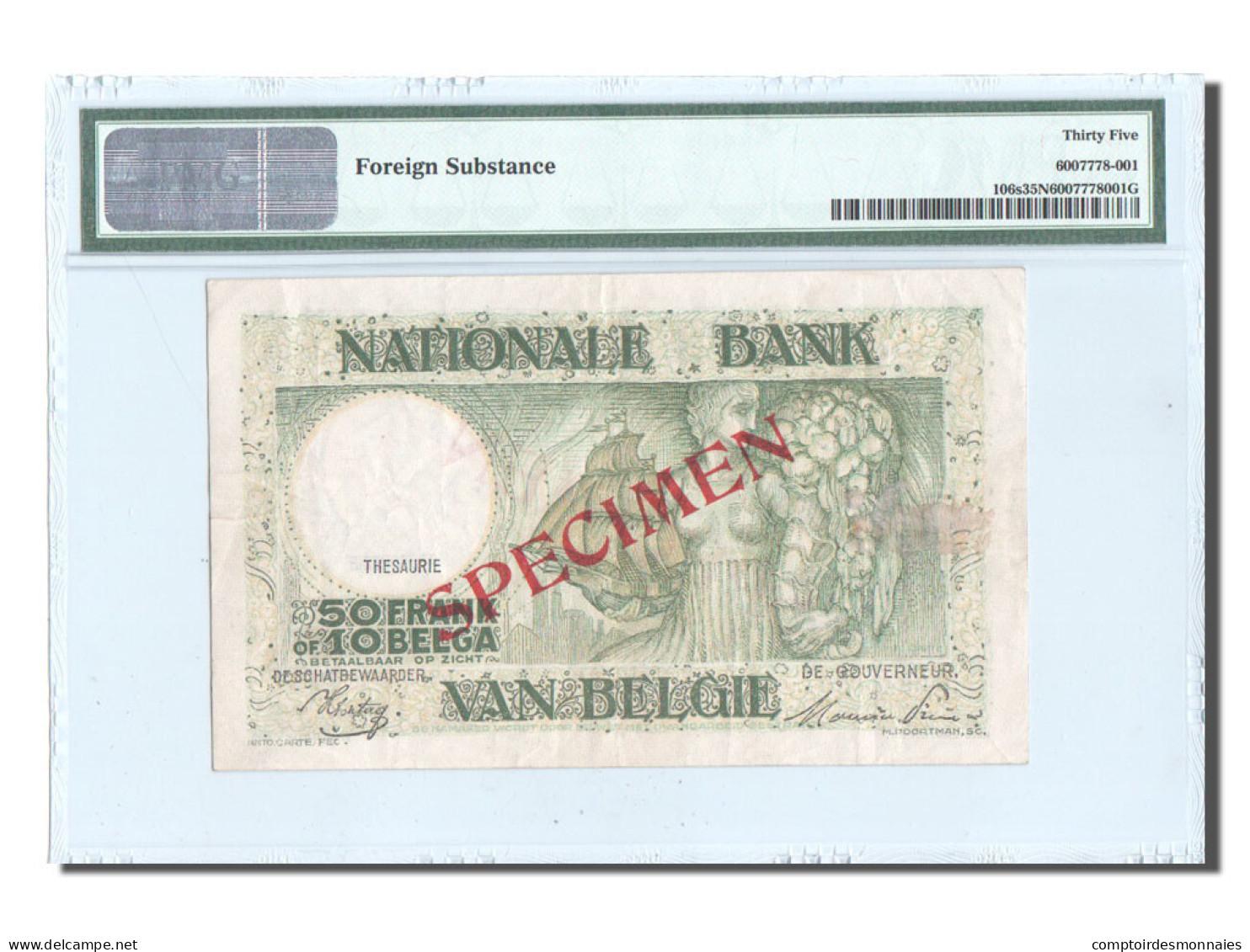 Belgique, 50 Francs-10 Belgas, SPECIMEN, KM:101, PMG Ch VF35 - 50 Francs