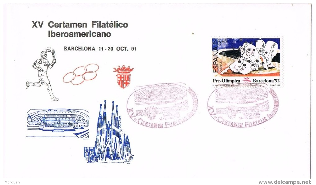 17273. Carta Exposicion  BARCELONA 1991. Certamen Filatelico Iberoamericano - 1931-Hoy: 2ª República - ... Juan Carlos I