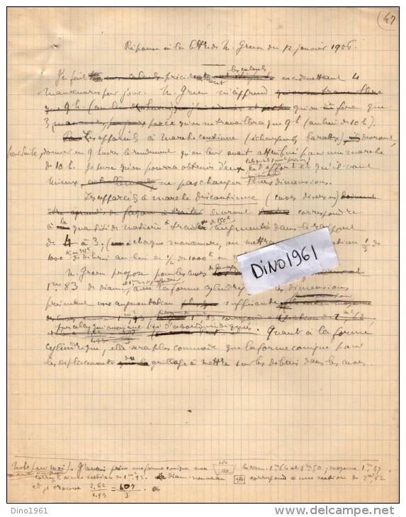VP3592 - Tabac - Lettre + Note De Renseignements à L´intention De Mr GREEN De LIVERPOOL - Mr SCHOESING à PARIS - Documents