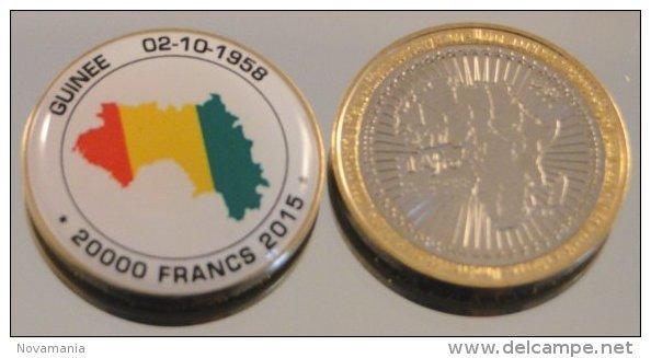 Guinée 2015 Bimetal Couleurs Drapeau - Guinea