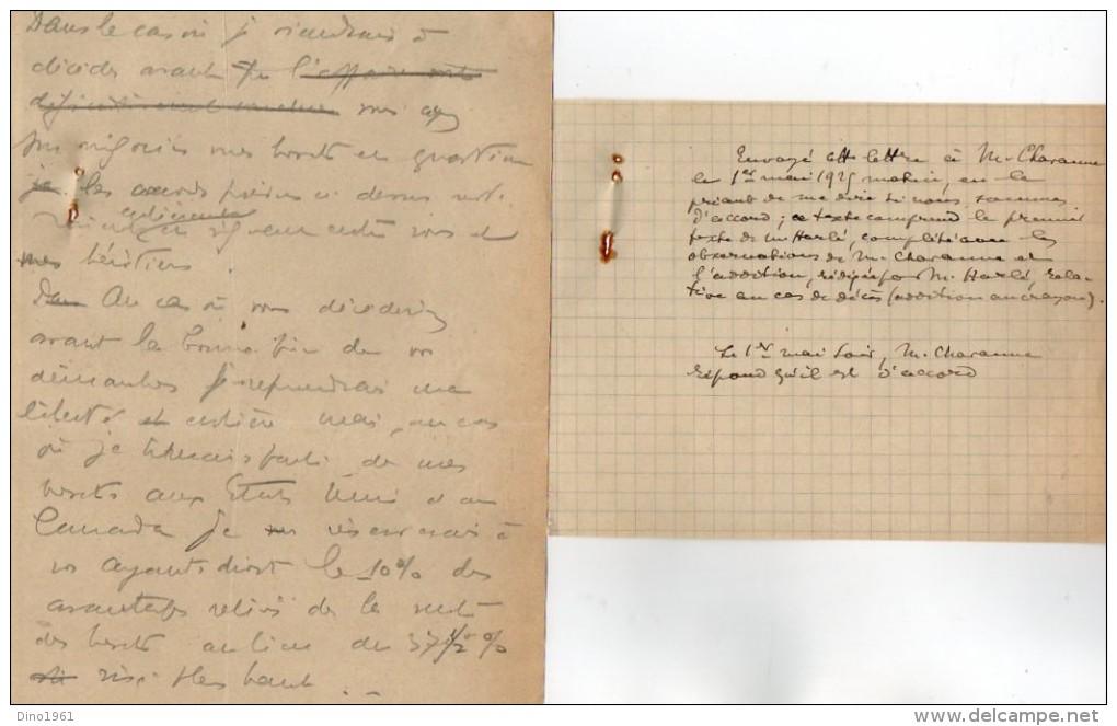 VP3603 -Tabac - Lettre De Mr F. HARLE Ingénieur à PARIS Pour  Mr SCHLOESING - Documents