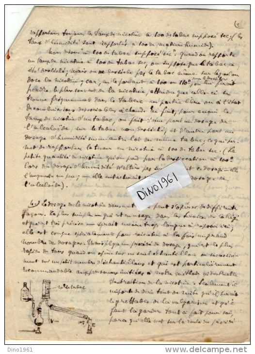 VP3608 -Tabac - Lot De Documents Mrs F. HARLE & G.BRUNETON Ingénieurs - Conseils à PARIS  Pour  Mr SCHLOESING - Documents