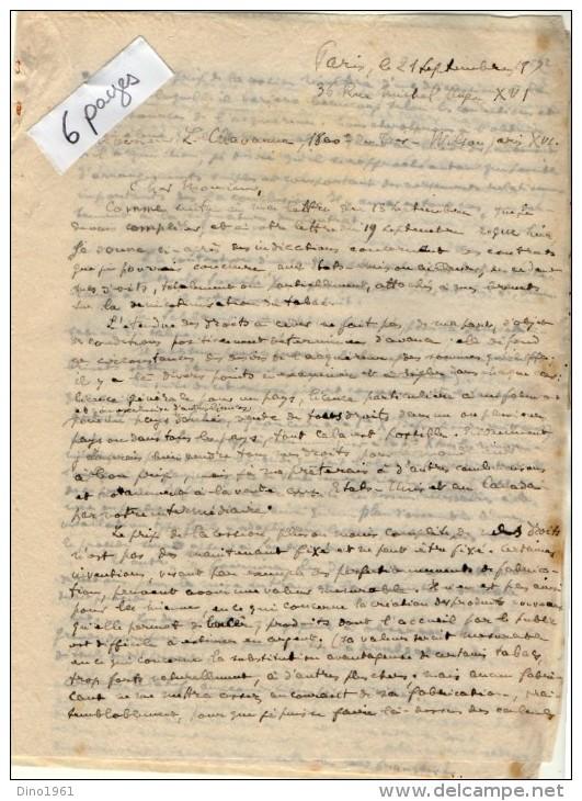 VP3622 - Tabac - Note & Lettre De  Mr SCHLOESINGà PARIS - Documents