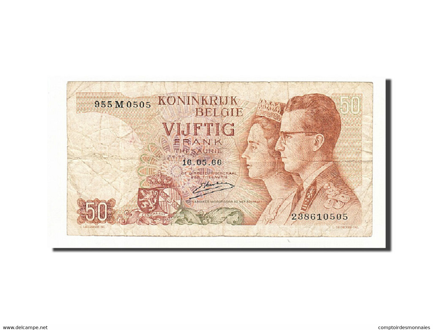 Belgique, 50 Francs, 1964-1966, KM:139, 1966-05-16, TB - [ 6] Staatskas