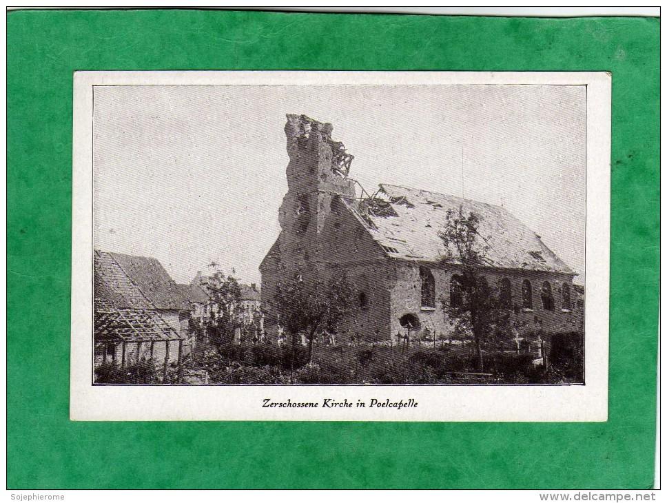 Langemark-Poelkapelle Zerschossene Kirche In Poelcapelle (Flandre Occidentale) - Langemark-Poelkapelle