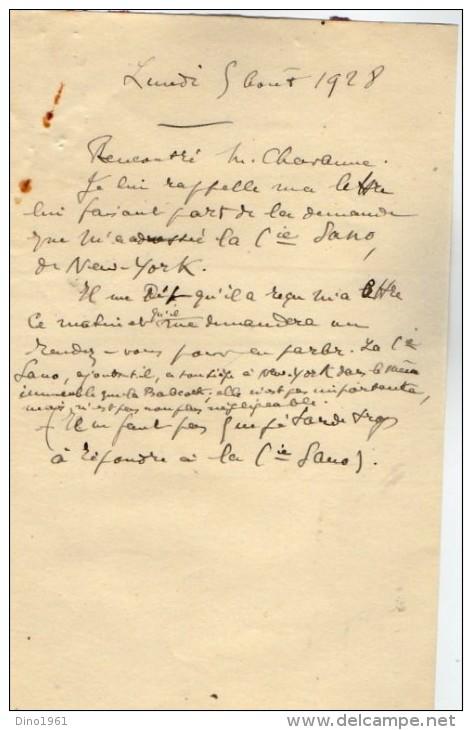 VP3628 - Tabac - Lot De Documents Sur La Cie SANO Gigars And Cigarettes NEW YORK Pour Mr SCHLOESING à PARIS - Documents