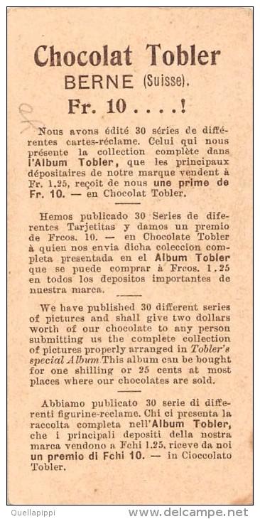 "04093 ""CHOCOLAT TOBLER - BERNE - SUISSE- SERIE III ROBINSON CRUSOE 1-6 N° 6"" ANIMATO,  FIGURINA ORIGINALE - Cioccolato"