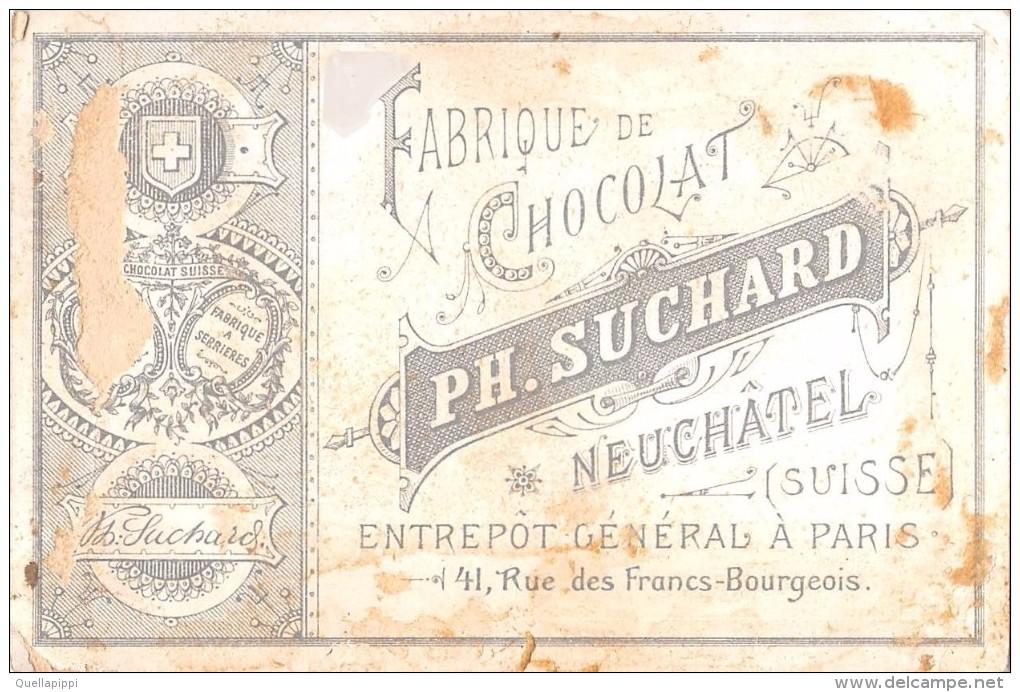 "04098 ""FABRIQUE DE CHOCOLAT PH. SUCHARD - NEUCHATEL - SUISSE"" ANIMATO, BAMBINI,  FIGURINA ORIGINALE - Cioccolato"