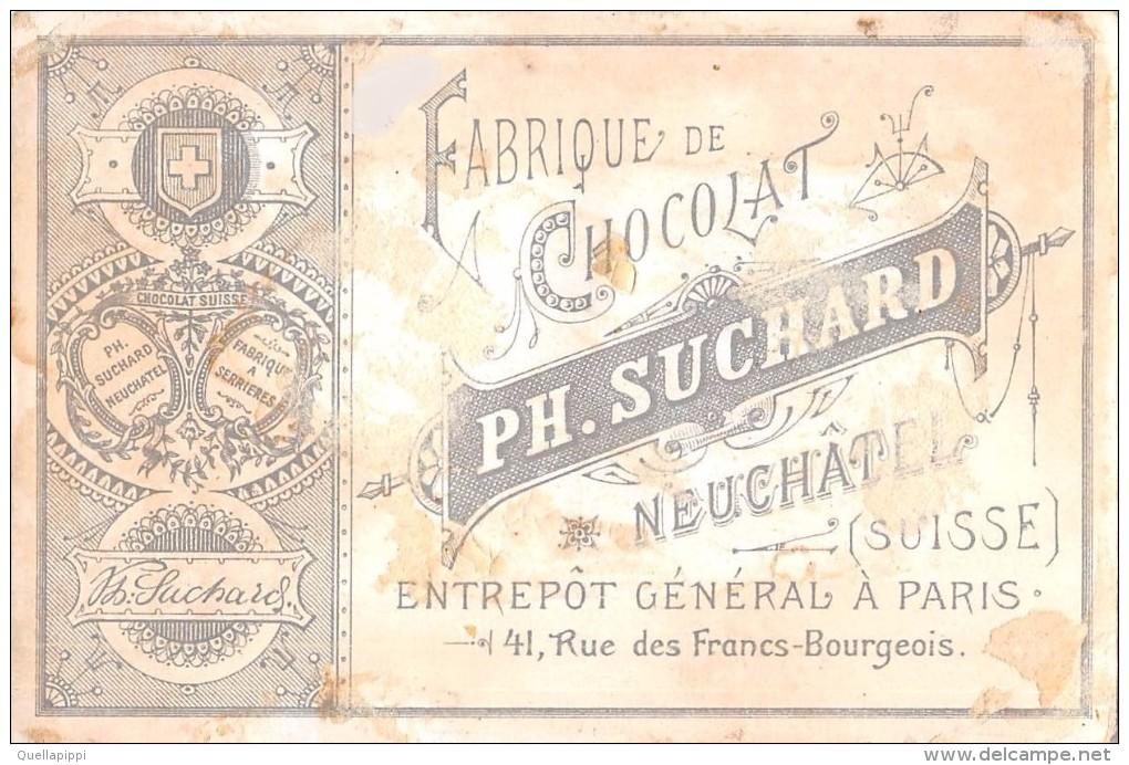 "04100 ""FABRIQUE DE CHOCOLAT PH. SUCHARD - NEUCHATEL - SUISSE"" ANIMATO, BAMBINI,  FIGURINA ORIGINALE - Cioccolato"