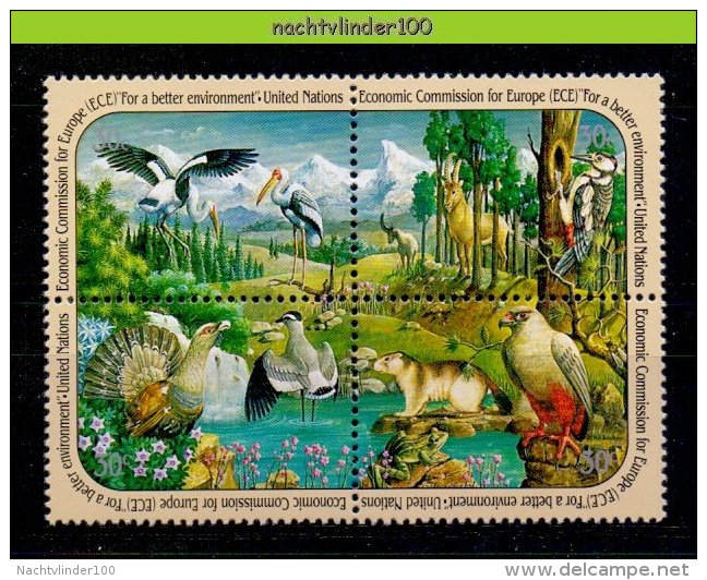 Ncz043 FAUNA VOGELS KIKKER BIRDS FROG MAMMALS MOUNTAINS UNITED NATIONS 1991 PF/MNH - Milieubescherming & Klimaat