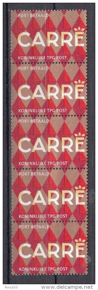 Nederland 2004 Nvph Nr  BZ15 Port Betaald Thema: Carre Strook Van 5 Met Nummer 06965 - Period 1980-... (Beatrix)