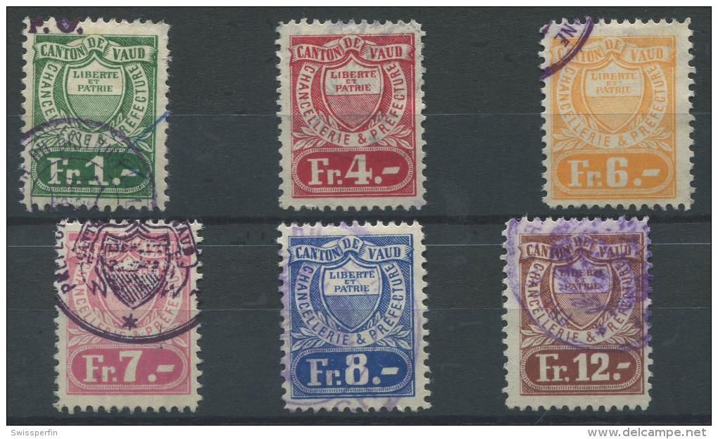 1087 - VAUD Fiskalmarken - Fiscaux