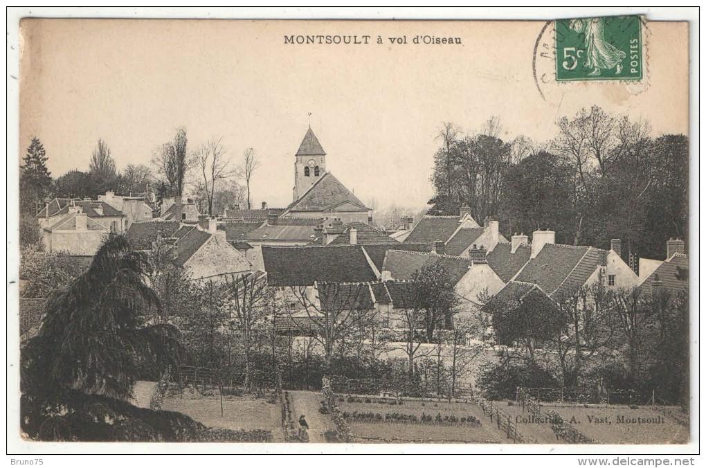 95 - MONTSOULT à Vol D'Oiseau - Edition Vast - Montsoult
