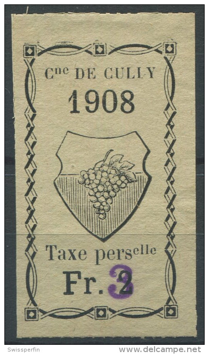 1100 - CULLY Fiskalmarke - Fiscaux