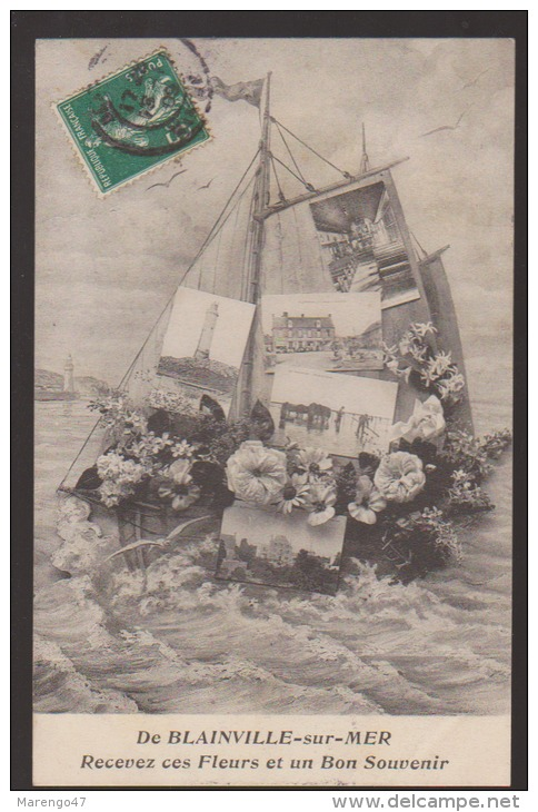 CPA:Blainville-sur-Mer:Souvenir Multivues - Blainville Sur Mer