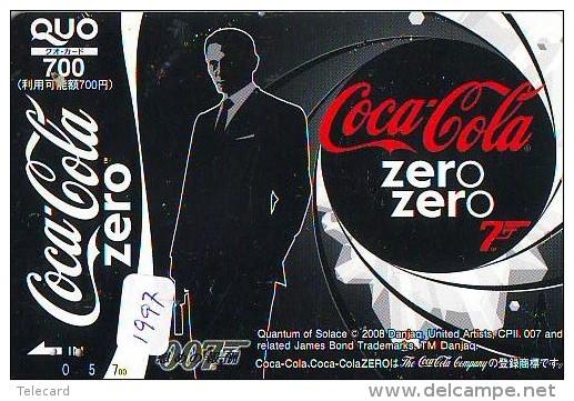 Télécarte Japon * COCA COLA * (1997) JAPAN PHONECARD * TELEFONKARTE * FILM * JAMES BOND * CINEMA * MOVIE - Advertising