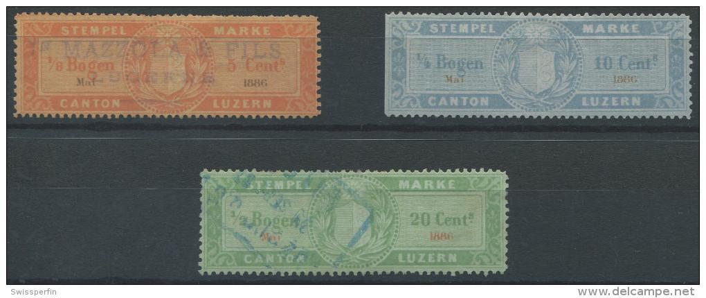 1132 - LUZERN Fiskalmarken - Fiscaux