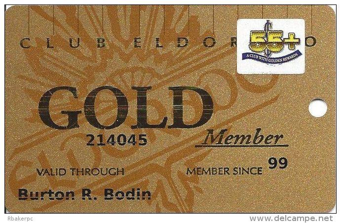 Eldorado Casino Reno NV 18th Issue 55+ Sr Slot Card - No Signature Strip - Casino Cards