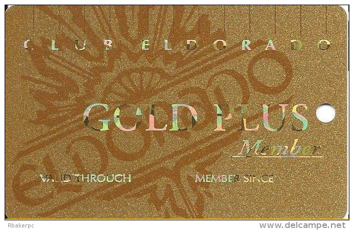 Eldorado Casino Reno NV 14th Issue BLANK Slot Card - Smaller Authorized Signature Text - Casino Cards