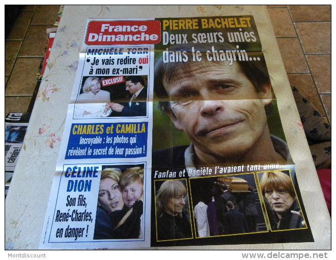 AFFICHE FRANCE DIMANCHE PIERRE BACHELET REGARDEZ MES VENTES ! J´EN AI D´AUTRES - Magazines: Abonnements