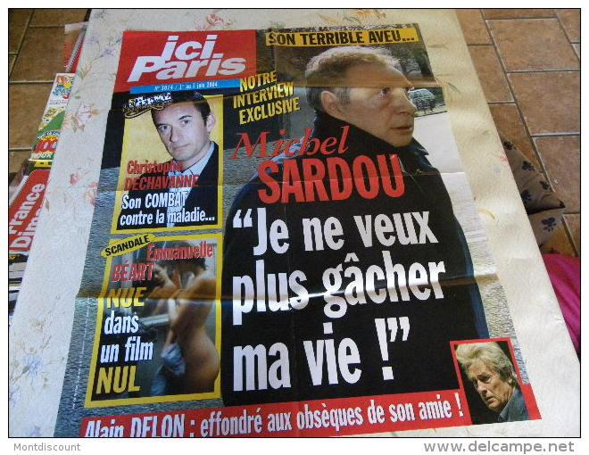 AFFICHE ICI PARIS MICHEL SARDOU REGARDEZ MES VENTES ! J´EN AI D´AUTRES - Magazines: Abonnements