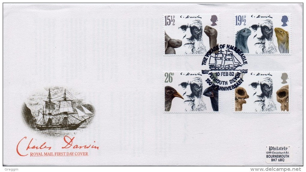 GB First Day Cover To Celebrate Darwin Issued On The 10th February 1982.  - FDC