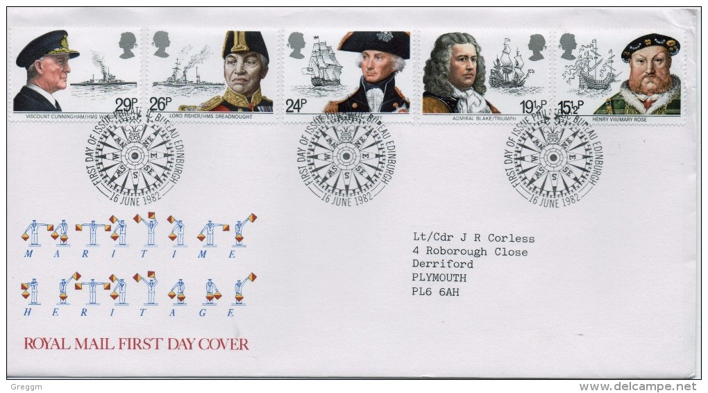 GB First Day Cover To Celebrate Maritime Heritage Issued On The 16th June 1982. - FDC