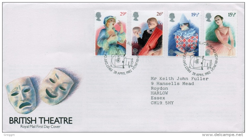 GB First Day Cover To Celebrate British Theatre Issued On The 28th April 1982 - FDC
