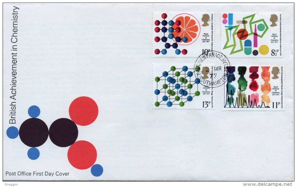 GB First Day Cover To Celebrate British Achievement In Chemistry 1977 - FDC