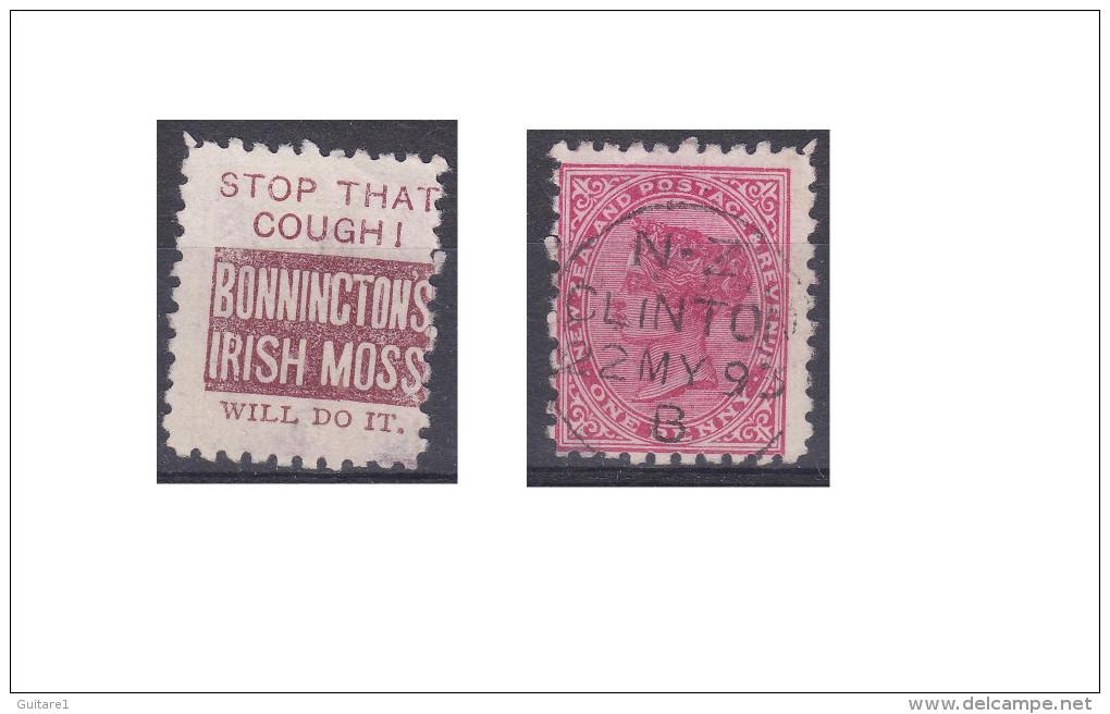 """Nouvelle Zélande Publicité """"Bonninctons Irish Moss, Stop That Cought !"""" - 1855-1907 Crown Colony"""