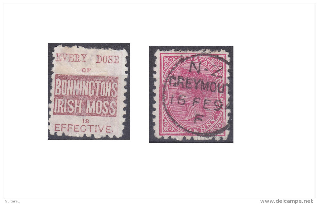 """Nouvelle Zélande Publicité """"Bonninctons Irish Moss, Every Dose Of"""" - 1855-1907 Crown Colony"""