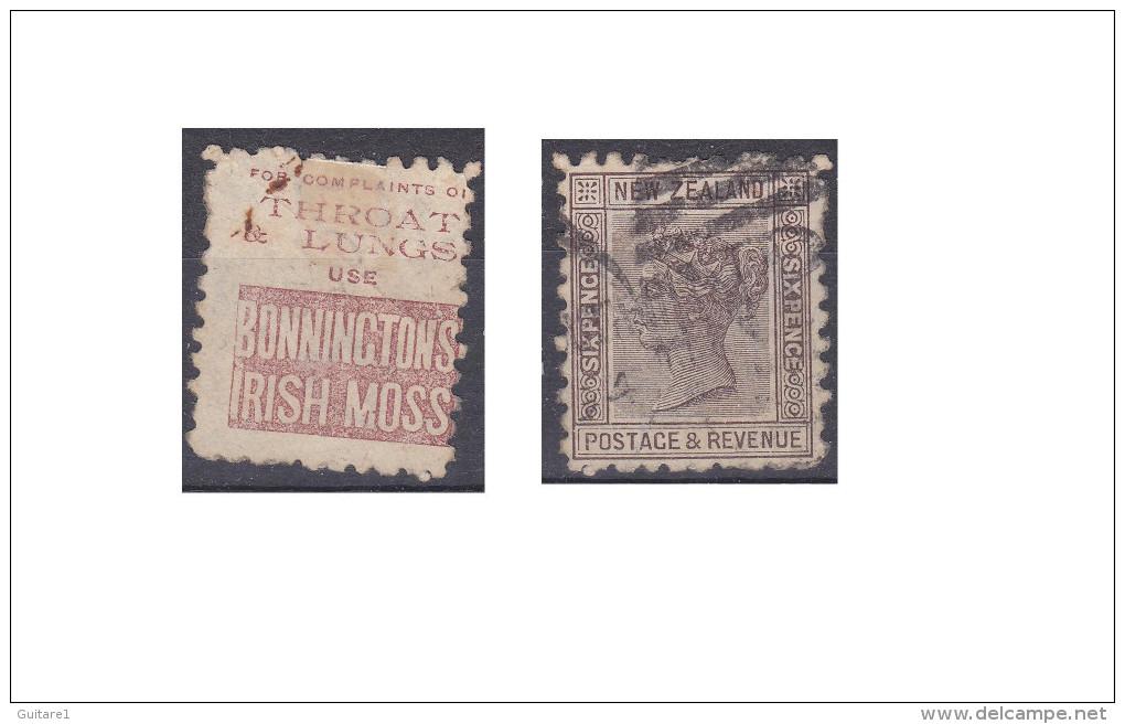 """Nouvelle Zélande Publicité """"Bonninctons Irish Moss, Throat & Lungs Use """" - 1855-1907 Crown Colony"""