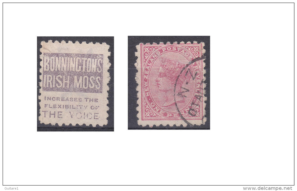 """Nouvelle Zélande Publicité """"Bonninctons Irish Moss, Increases The Flexibility Of The Voice"""" - 1855-1907 Crown Colony"""