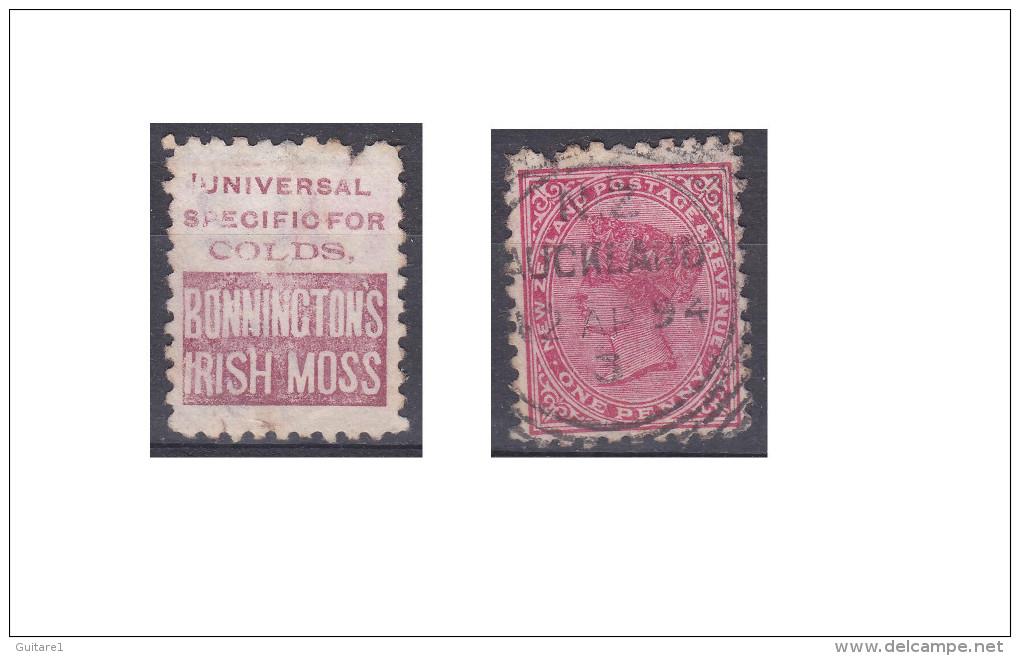 """Nouvelle Zélande Publicité """"Bonninctons Irish Moss, Universal Specific For Colds"""" - Oblitérés"""