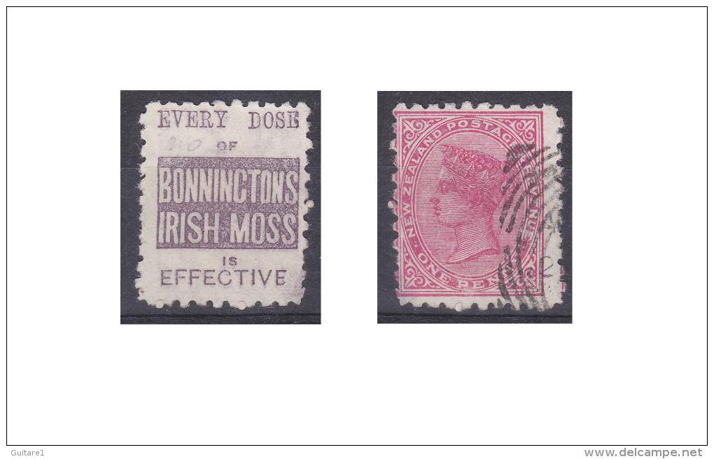 "Nouvelle Zélande Publicité ""Bonninctons Irish Moss, Every Dose Of "" - Used Stamps"