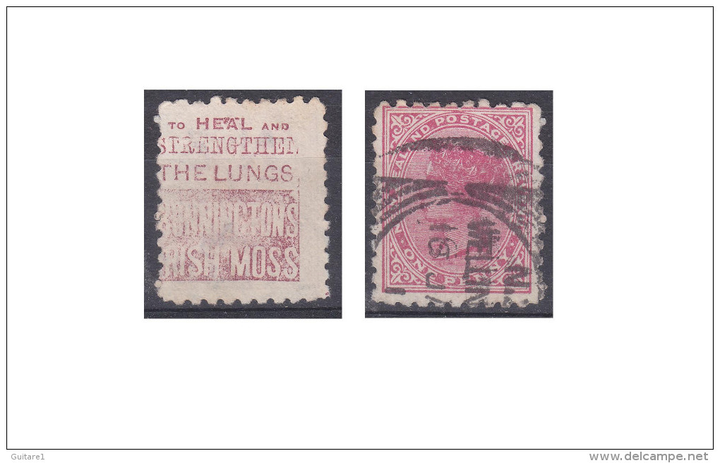 "Nouvelle Zélande Publicité ""Bonninctons Irish Moss, To Heal And Strengthen The Lungs"" - 1855-1907 Crown Colony"