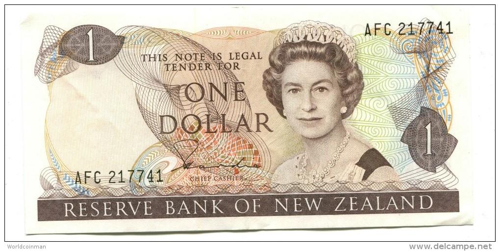 New Zealand One Dollar Banknote - New Zealand