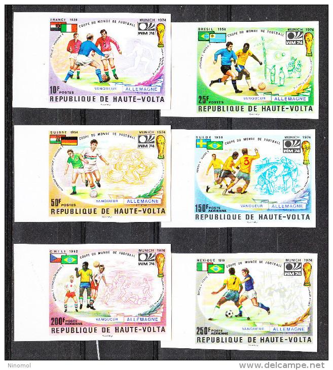 Alto Volta  Haute Volta   -     1974.  Allemagne Winner. Rare Imperf. Fresh MNH Complete Set. - Coppa Del Mondo