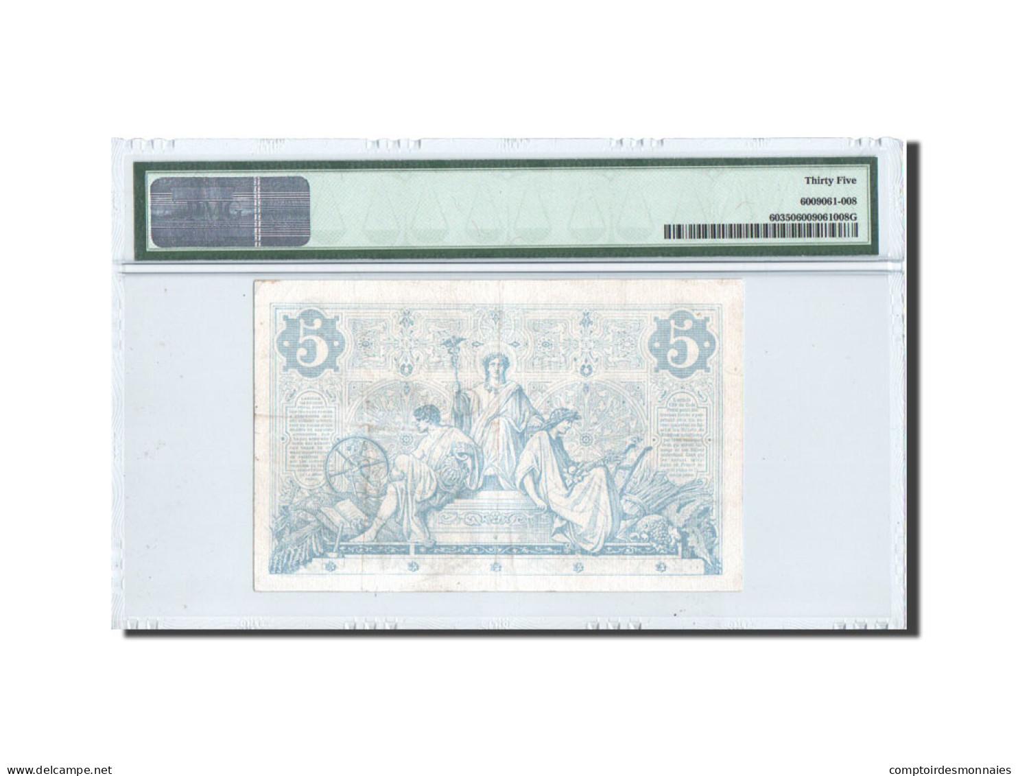 France, 5 Francs, Noir, 1872, KM:60, PMG Ch VF35 - 5 F 1871-1874 ''Noir''