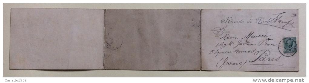 Cartolina Firenze Grande Rettangolare Viaggiata Anno 1907 Misure Cm.42X9 - Firenze