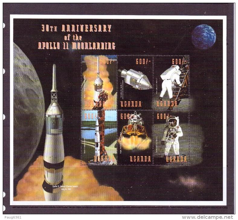 OUGANDA-UGANDA  1999 ESPACE  YVERT N°1771/76  NEUF MNH** - Space