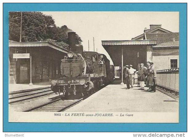 CPA Chemin De Fer Cheminots Train En Gare De LA FERTE SOUS JOUARRE 77 - La Ferte Sous Jouarre