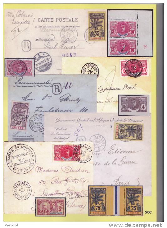 L´EMISSION FAIDHERBE PALMIERS BALLAY 1906 - 1916 COLONIES - Kolonien Und Auslandsämter