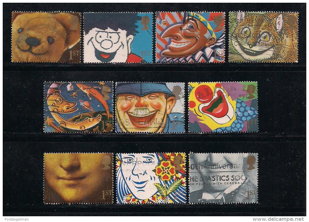 UK, 1991, Cancelled Stamp(s) , Greeting Stamps  1327-1336, #14548 - 1952-.... (Elizabeth II)