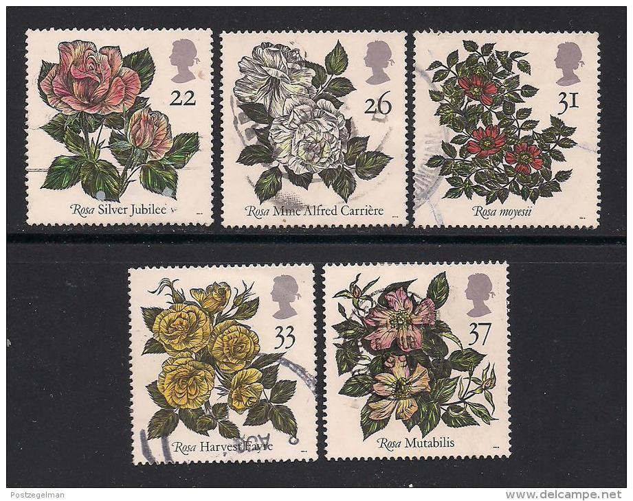 UK, 1991, Cancelled Stamp(s) , World Congress Of Roses,  1345-1349, #14551 - 1952-.... (Elizabeth II)