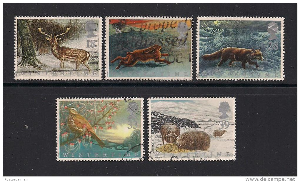 UK, 1992, Cancelled Stamp(s) , The Four Seasons,  1372-1376, #14555 - Used Stamps