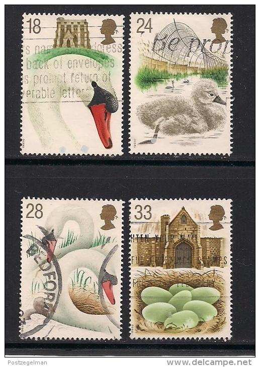UK, 1993, Cancelled Stamp(s) , Abbotsbury Swanners,  1426-1430, #14567 - Used Stamps