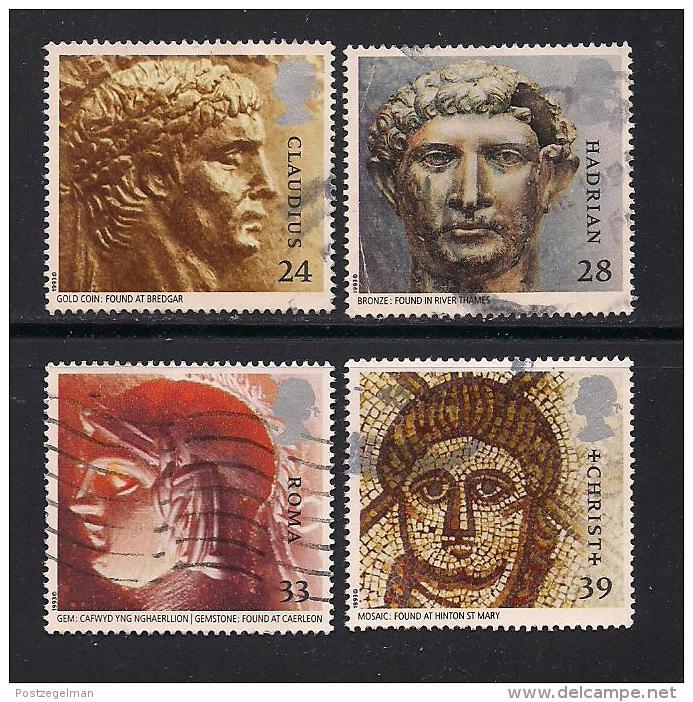 UK, 1993, Cancelled Stamp(s) , Roman Brittain,  1455-1458 #14573 - 1952-.... (Elizabeth II)