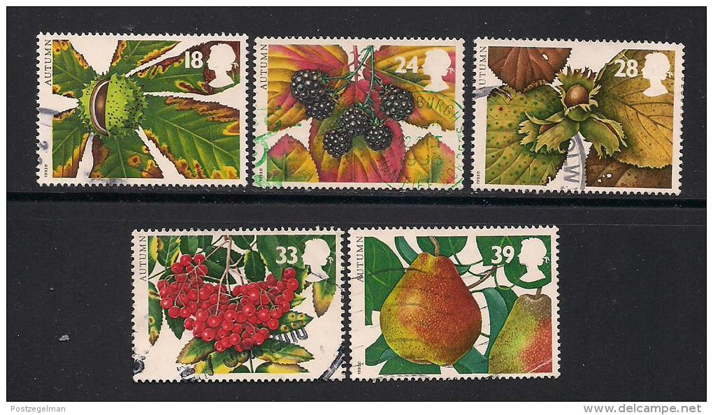 UK, 1993, Cancelled Stamp(s) , The Four Seasons,  1463-1467 #14575 - 1952-.... (Elizabeth II)